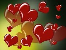 Corazón del rojo de la imagen del vector Foto de archivo