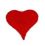 Corazón del rojo de la Navidad Fotografía de archivo