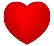 Corazón del rojo de la tarjeta del día de San Valentín Imágenes de archivo libres de regalías