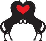 Corazón del rojo del caballo Imagenes de archivo