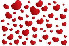 Corazón del rojo del fondo Foto de archivo