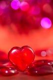 Corazón del rojo del ` s de la tarjeta del día de San Valentín Fotografía de archivo