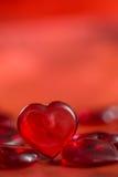 Corazón del rojo del ` s de la tarjeta del día de San Valentín Imagen de archivo libre de regalías
