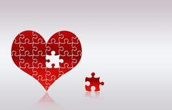 Corazón del rompecabezas Foto de archivo libre de regalías