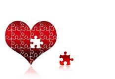 Corazón del rompecabezas Imagen de archivo libre de regalías