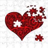 Corazón del rompecabezas Fotos de archivo libres de regalías