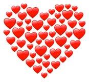 Corazón del `s de la tarjeta del día de San Valentín Imagen de archivo
