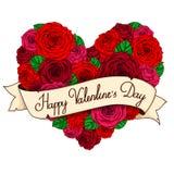 Corazón del `s de la tarjeta del día de San Valentín ilustración del vector