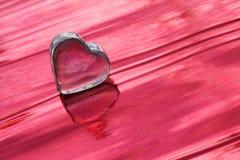 Corazón del saludo del amor Fotografía de archivo libre de regalías