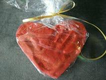 Corazón del serce de la mano del amor Imagen de archivo