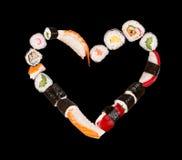 Corazón del sushi Foto de archivo libre de regalías