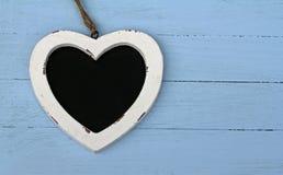 Corazón del tablero de tiza Foto de archivo libre de regalías
