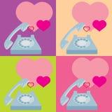 Corazón del teléfono stock de ilustración