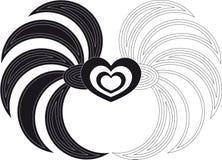 Corazón del vector con las alas Imagen de archivo