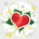 Corazón del vector de la sandía con remolino Imágenes de archivo libres de regalías