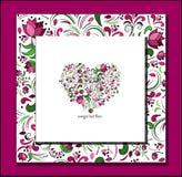Corazón del vector de rosas Fotografía de archivo