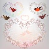 Corazón del vector de rosas. ejemplo del vector Imagen de archivo