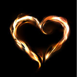 Corazón del vector del fuego Imágenes de archivo libres de regalías