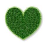 corazón del vector hecho de hierba libre illustration