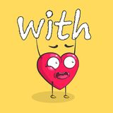 Corazón del vector para el día del ` s de la tarjeta del día de San Valentín foto de archivo libre de regalías