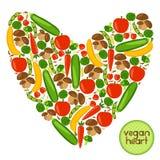 Corazón del vegano Foto de archivo
