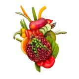 Corazón del Veggie Foto de archivo libre de regalías