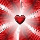 Corazón del vidrio Imagen de archivo libre de regalías