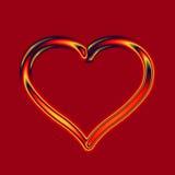 Corazón del vidrio del fuego Imagen de archivo