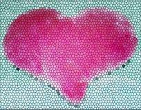 Corazón del vidrio manchado foto de archivo libre de regalías