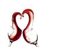 Corazón del vino Fotos de archivo libres de regalías