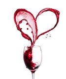 Corazón del vino rojo Imagen de archivo libre de regalías