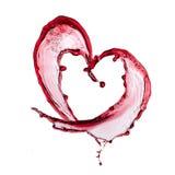Corazón del vino rojo Imágenes de archivo libres de regalías