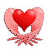 Corazón del vuelo Fotografía de archivo libre de regalías