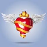 Corazón del vuelo Foto de archivo libre de regalías