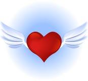 Corazón del vuelo Imágenes de archivo libres de regalías