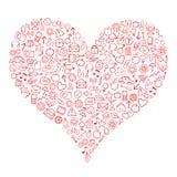 Corazón del Web Imágenes de archivo libres de regalías