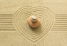 Corazón del zen Fotografía de archivo