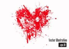 Corazón dibujado mano del Grunge Imagenes de archivo