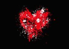 Corazón dibujado mano del Grunge Foto de archivo libre de regalías