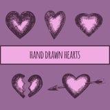 Corazón dibujado mano retro Imagen de archivo libre de regalías
