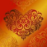 Corazón-dimensión de una variable Foto de archivo