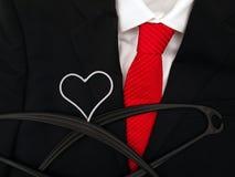 Corazón-dimensión de una variable de la percha Imágenes de archivo libres de regalías
