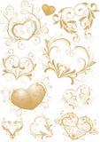 Corazón-dimensiones de una variable ornamentales stock de ilustración