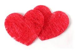Corazón doble de la textura Imagen de archivo libre de regalías