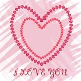 Corazón dos de los pétalos de la flor del Te amo Amor del reconocimiento Imagenes de archivo