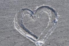 Corazón drenado en la helada Imágenes de archivo libres de regalías