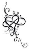 Corazón e infinito ilustración del vector