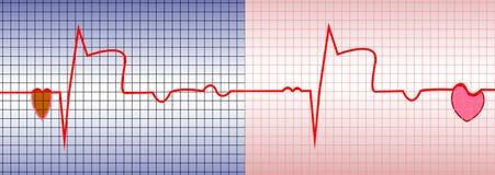 Corazón ECG stock de ilustración