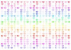 Corazón, ejemplo abstracto colorido del vector del fondo, concepto de las tarjetas del día de San Valentín ilustración del vector