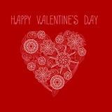 Corazón el día del ` s de la tarjeta del día de San Valentín Foto de archivo libre de regalías